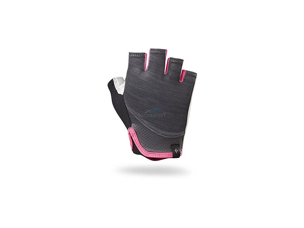 Rukavice Specialized Trident WMN carbon heather/neon pink 2017