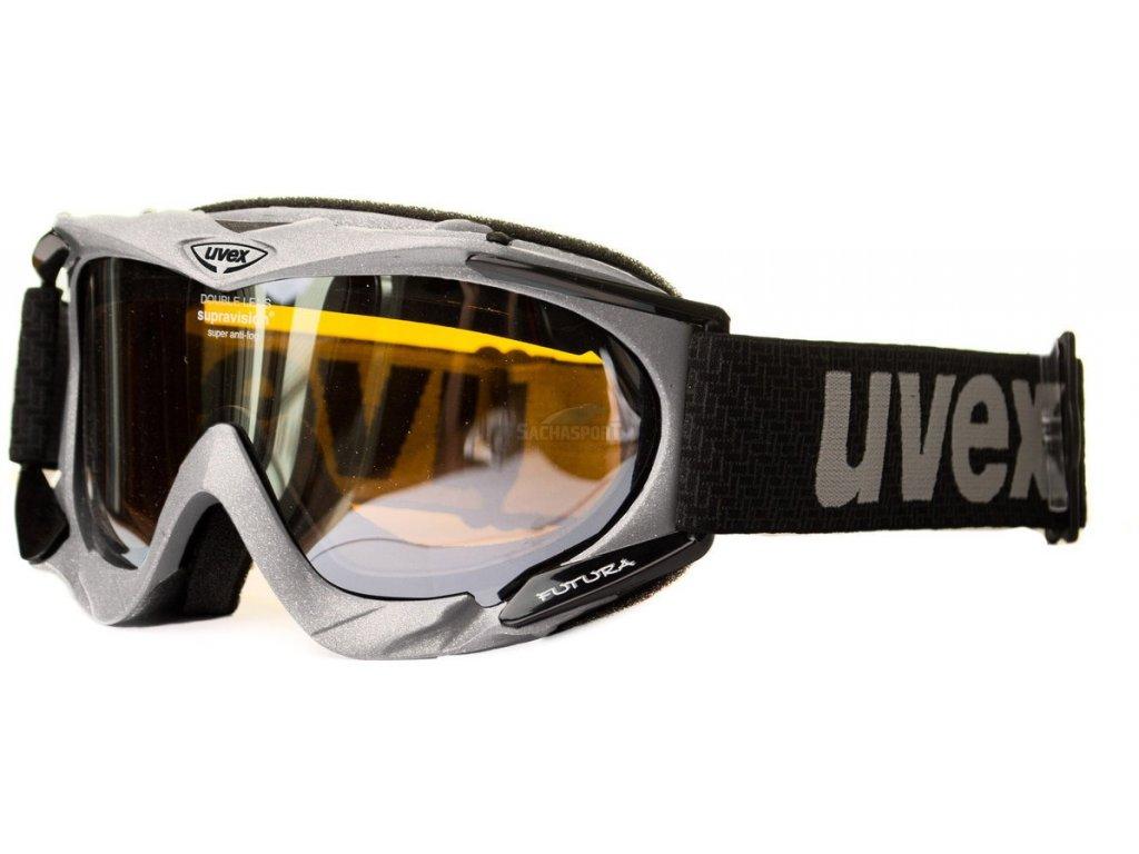 Lyžařské brýle Uvex Futura - silver mat