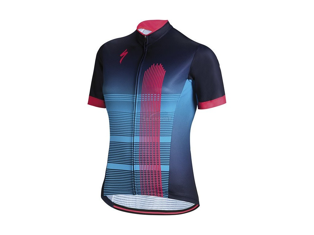 Dres Specialized RBX Comp Jersey SS WMN blue/acid red 2018