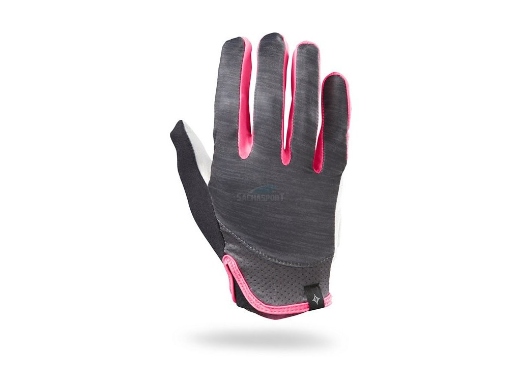 Rukavice Specialized Trident LF WMN carbon heather/neon pink 2017