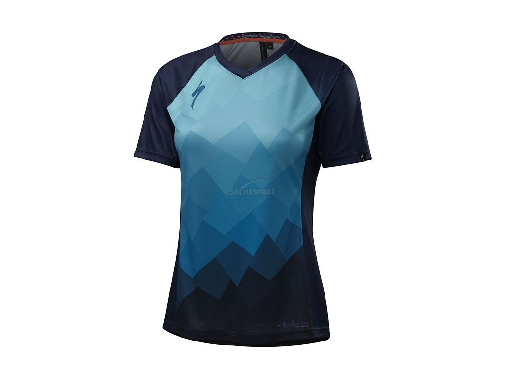 Dres Specialized Andorra Comp Jersey SS W turquoise collage 2017
