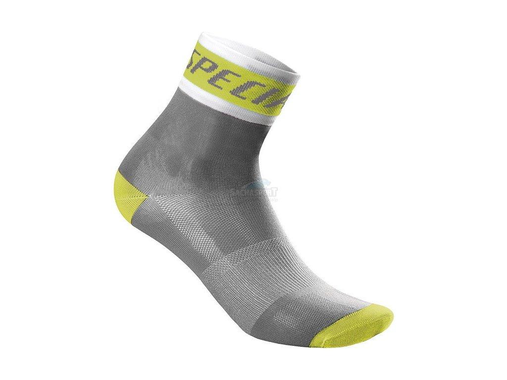 Ponožky Specialized RBX Comp Women's Sock grey/light green 2017