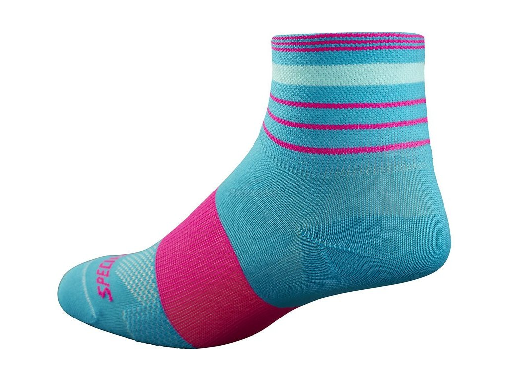 Ponožky Specialized RBX Women's Mid Socks turquoise/neon pink 2017