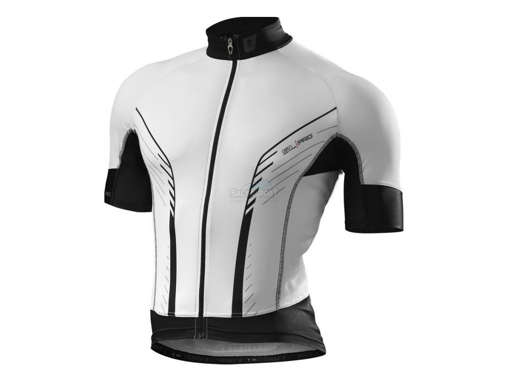 Dres Specialized SL Pro Jersey white/black 2014