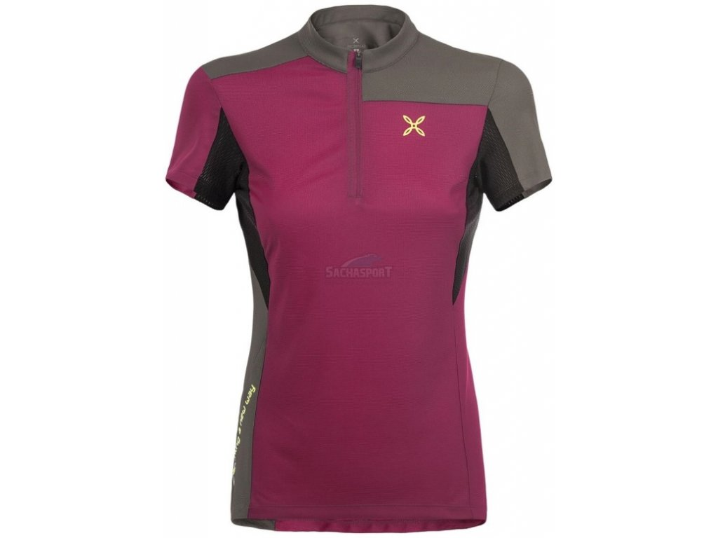 dres montura selce zip t shirt woman 1335 malaga castoro big
