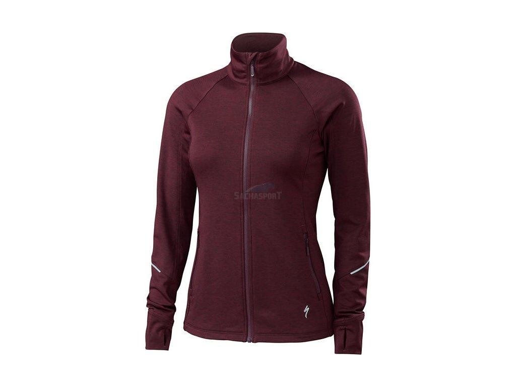 Bunda Specialized Shasta Track Jacket WMN black ruby heather 2018