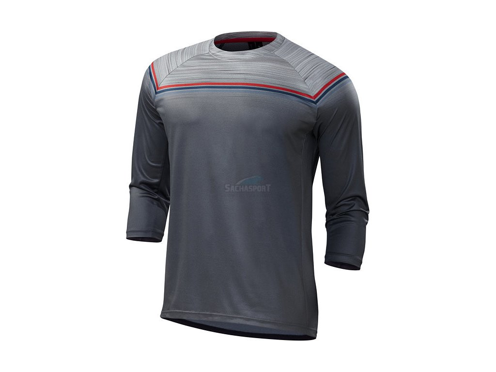 Dres Specialized Enduro Comp 3/4 Jersey grey/red 2018