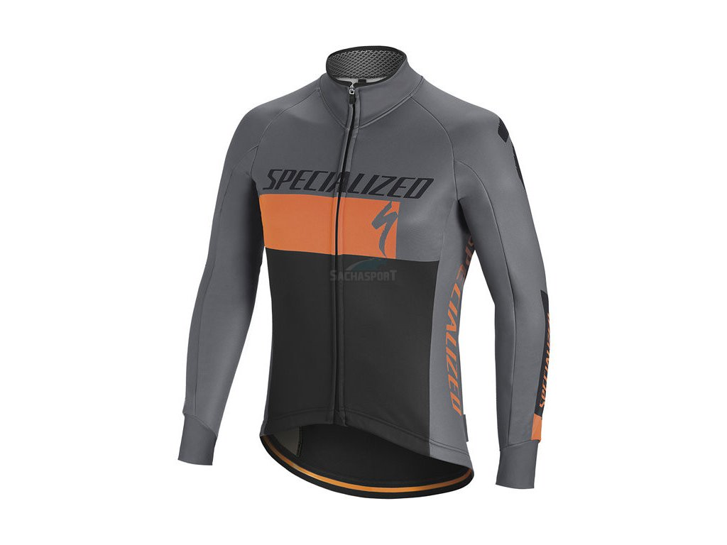 Bunda Specialized Element RBX Comp Logo Jacket grey/orange/black 2018