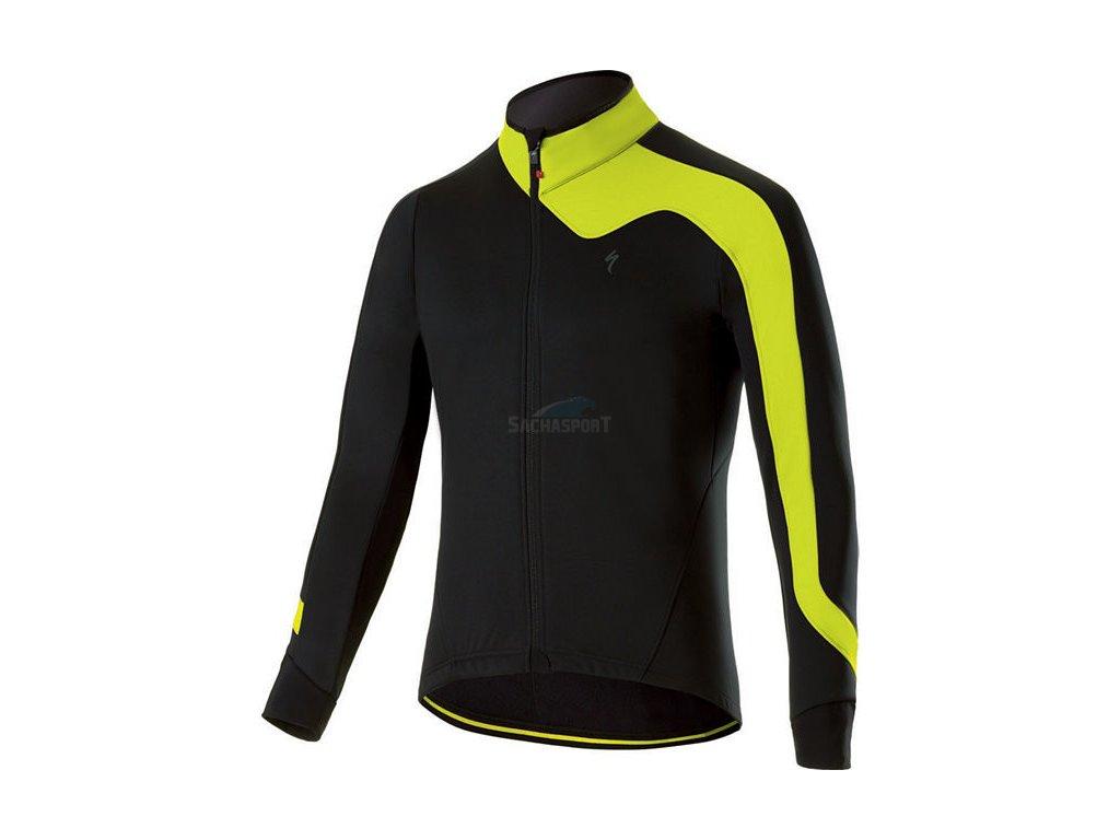Bunda Specialized Element RBX Comp Jacket black/neon yellow 2018