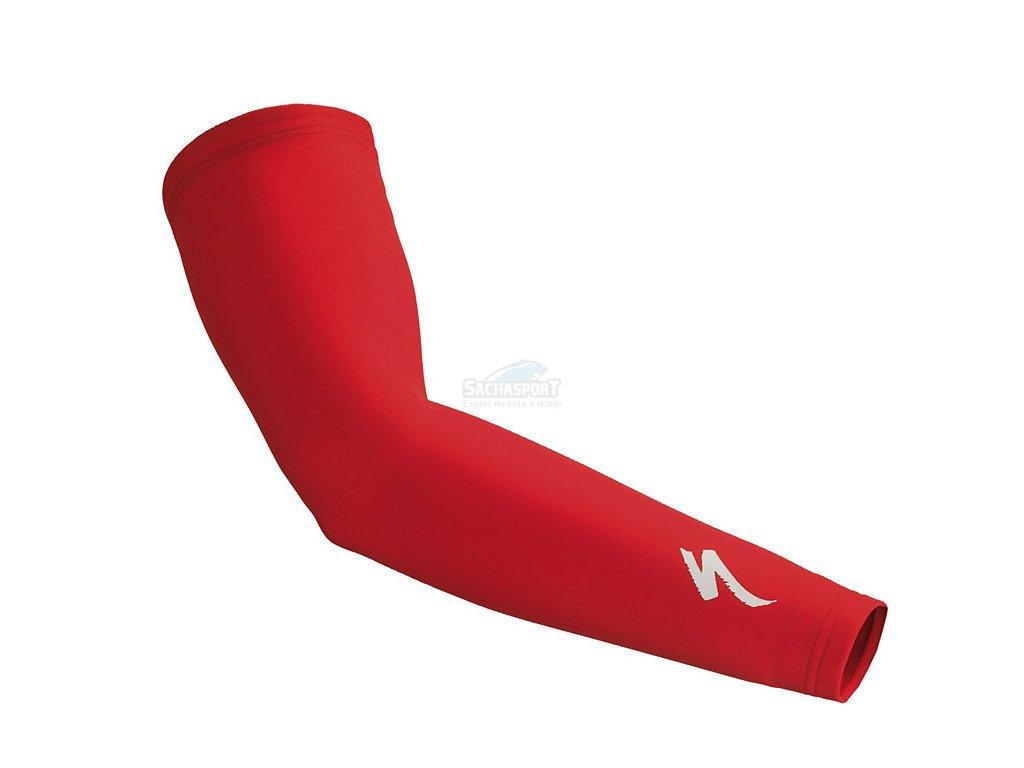 Návleky na ruce Specialized Arm Warmer S-Logo red/white 2018
