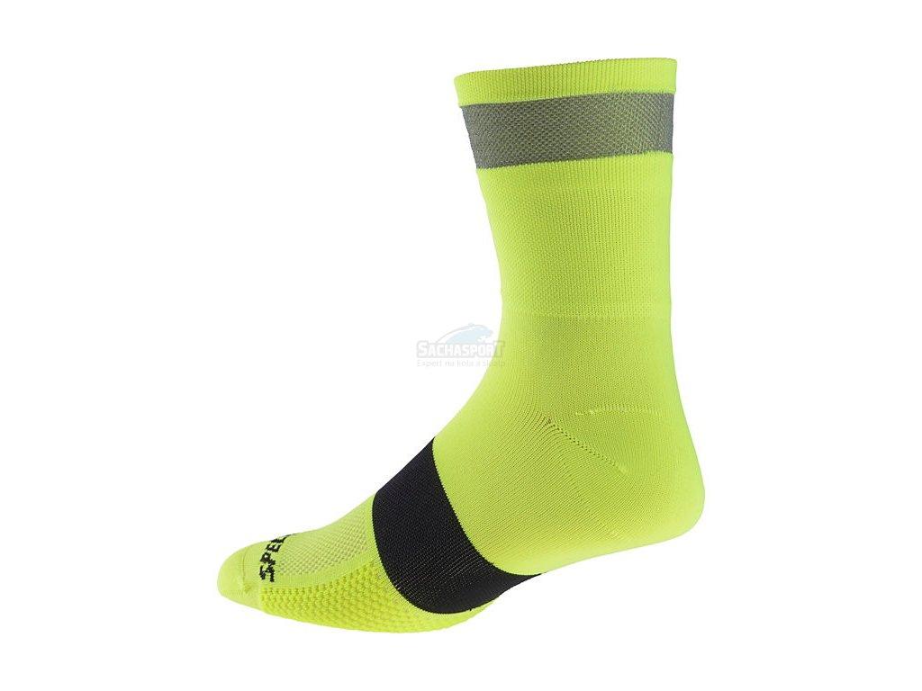 Ponožky Specialized Reflect Tall Sock neon yellow 2018