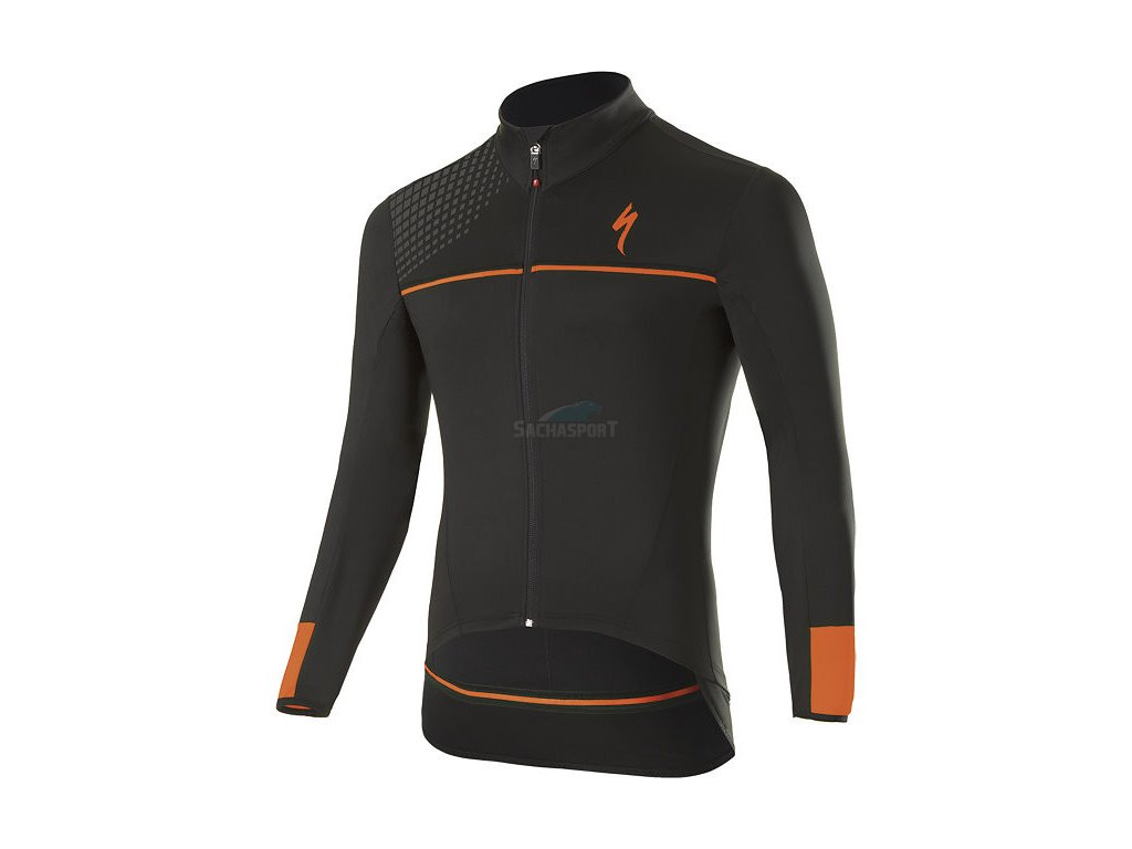Dres Specialized Element SL Elite Race LS Jersey black/neon orange 2018
