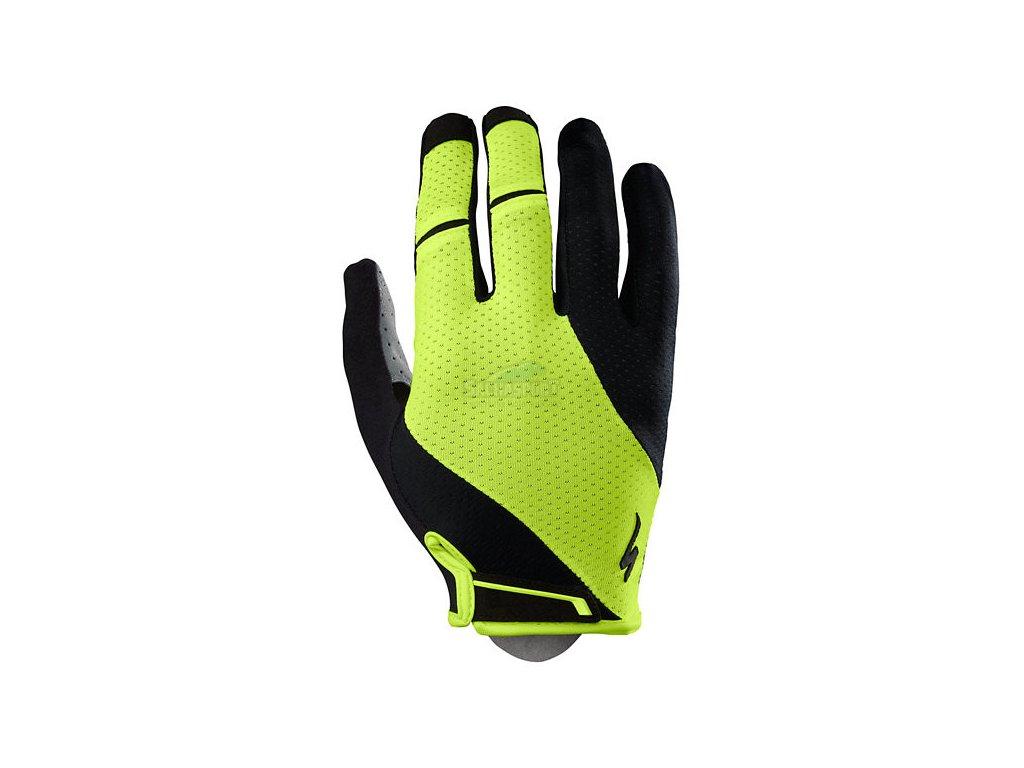 Rukavice Specialized BG Gel Long black/neon yellow 2019