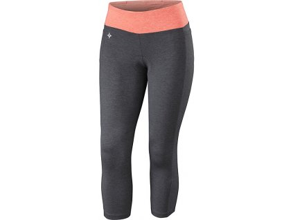 Kalhoty Specialized Shasta 3/4 Tight WMN carbon/coral heather 2019