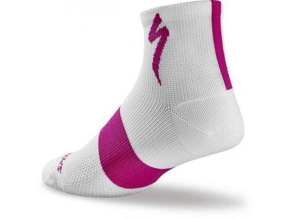 Ponožky Specialized Women's SL Mid Sock white 2018