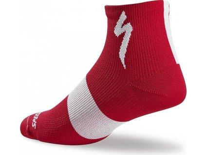 Ponožky Specialized Women's SL Mid Sock red 2017