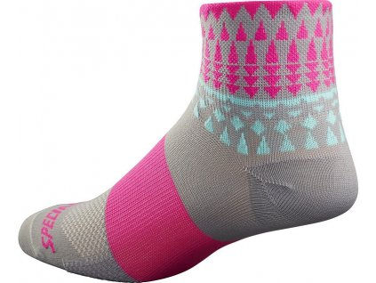 Ponožky Specialized RBX Women's Mid Socks light grey/neon pink 2017