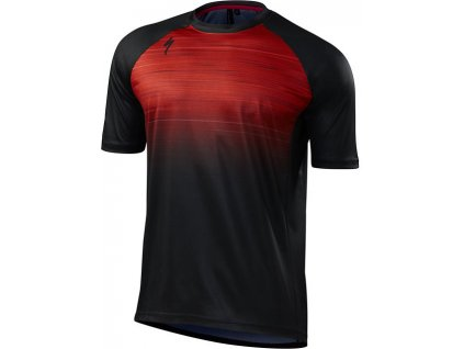 Dres Specialized Enduro Comp Jersey SS red speed blur 2018