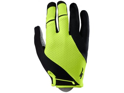 Rukavice Specialized BG Gel Long black/neon yellow 2019