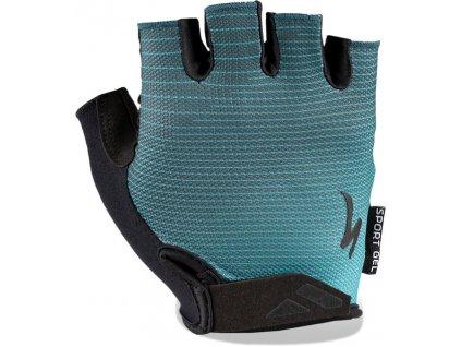 Rukavice Specialized BG Sport Gel aqua/cast blue arrow 2020