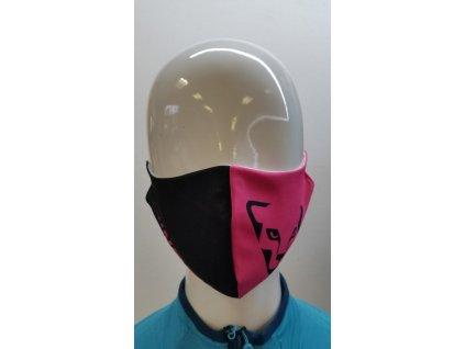 Rouška Dynafit Face Mask pink glo