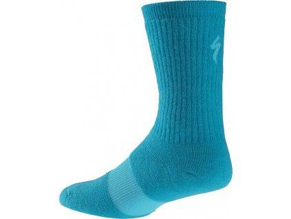 Ponožky Specialized W Winter Wool blue 2017