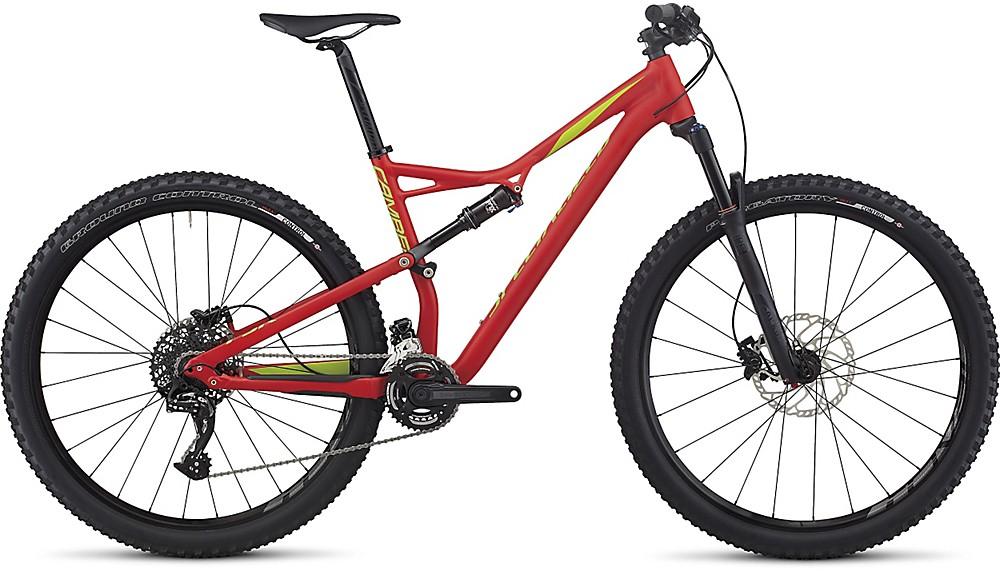 Specialized Camber FSR Comp 29 flo red/hyper green L 2017 Barva: červená, Velikost: L