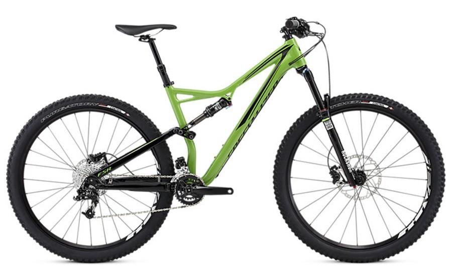 Specialized Stumpjumper FSR Comp 29 moto green/black S 2016 Barva: zelená / černá, Velikost: S