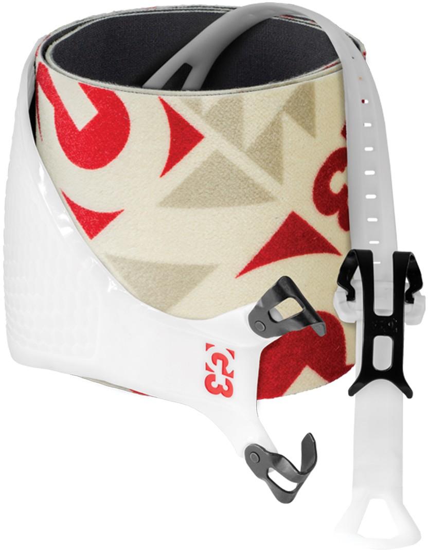 Pásy G3 Alpinist+ Speed 130 mm Barva: bílá / červená, Velikost: M, Šířka: 130 mm