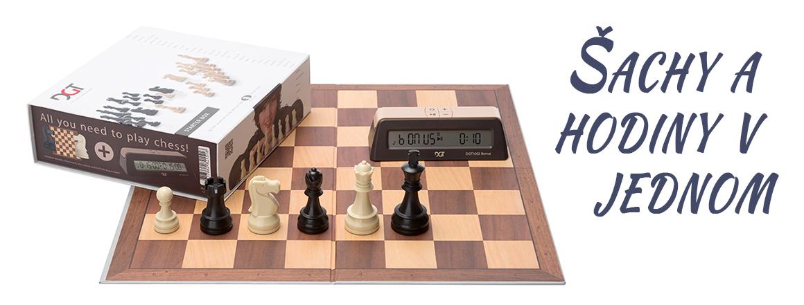 Šachy a hodiny v jednom