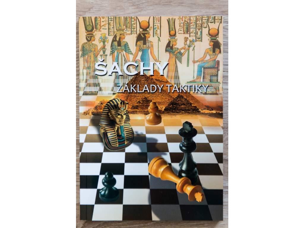 šachová kniha Základy taktiky, kombinačná hra, príklady, prepočet variantov, autor Richard Biolek, na obálke šachovnica