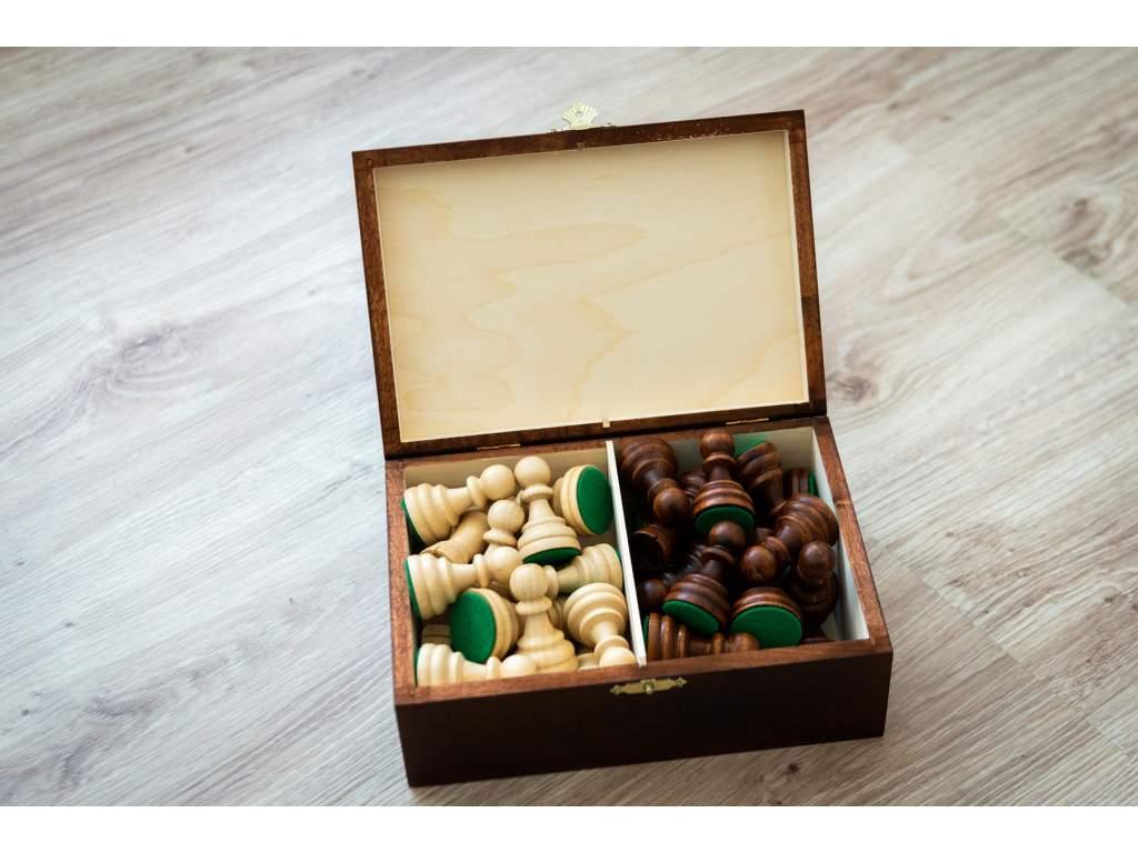 2270 1 sachove figurky staunton 6 v drevenom boxe