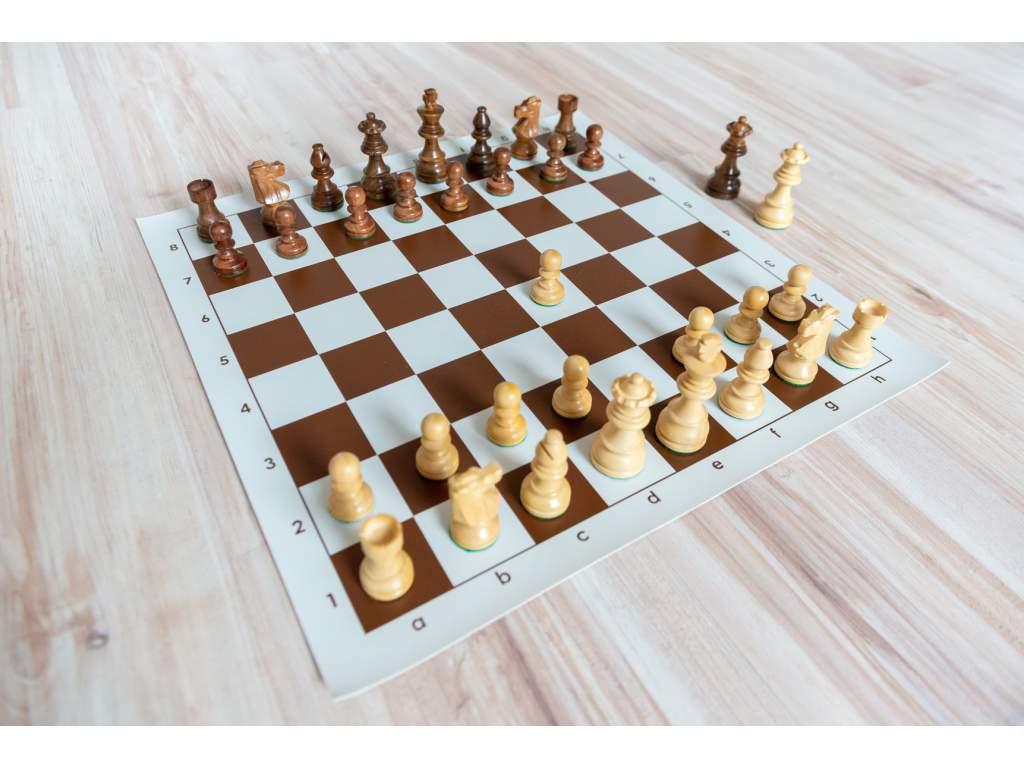 Šachová súprava francúzky agát (Farba šachovnice Hnedo-biela)