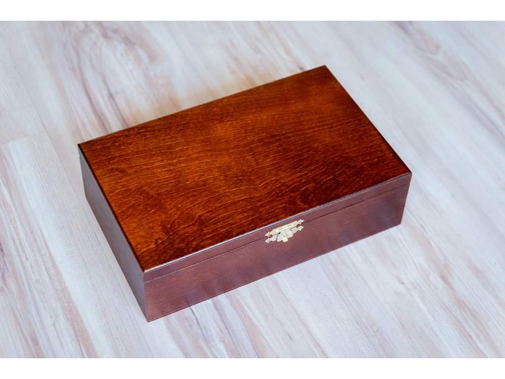 Šachové figúrky Klasický agát v drevenom boxe  + doprava zdarma