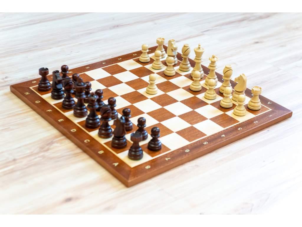 Drevená šachová súprava Staunton 7 tmavá  + doprava zdarma