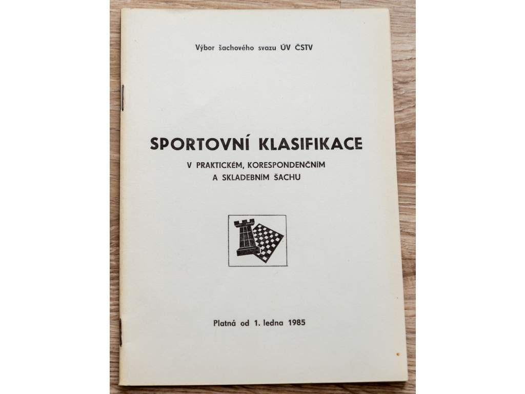 4169 sportovni klasifikace v praktickem korespondencnim a skladebnim sachu