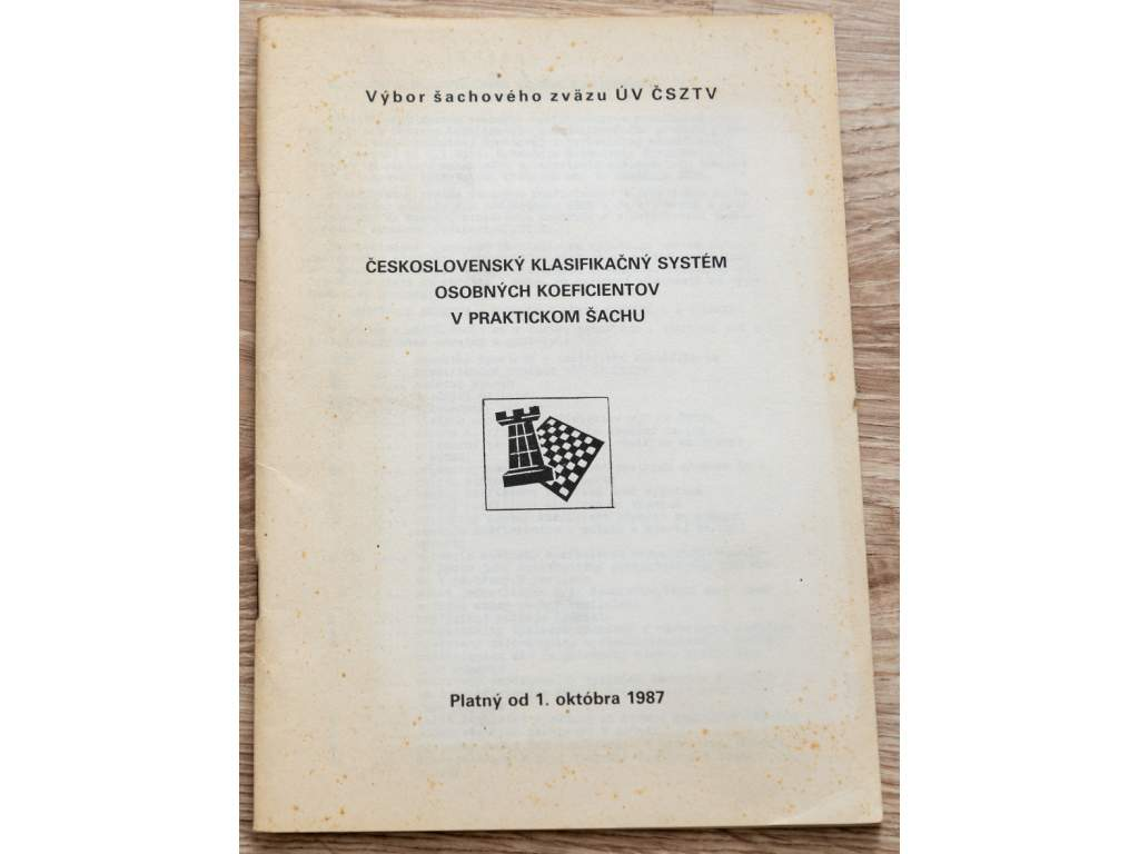 4172 ceskoslovensky klasifikacny system osobnych koeficientov v praktickom sachu 1987