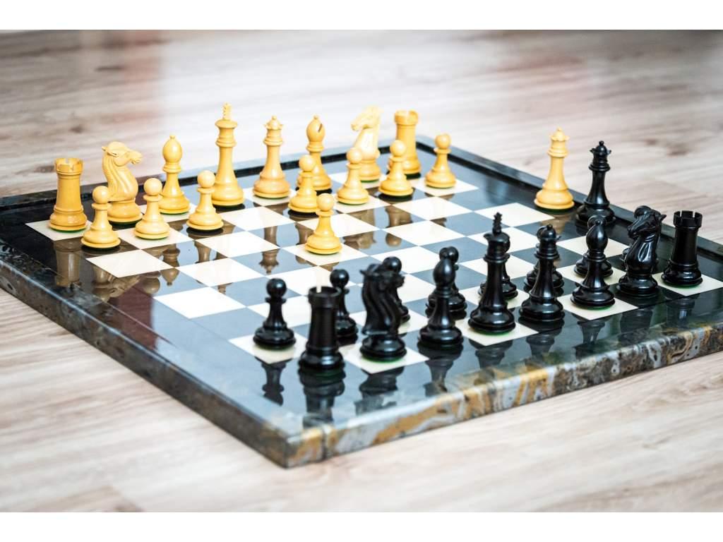 Šachová súprava Briar knight ebony  + doprava zdarma + darček