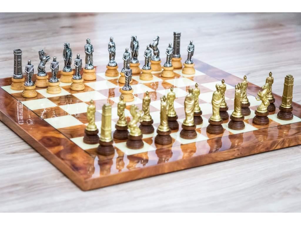 Šachová súprava Briar Rimania a Barbari  + doprava zdarma + darček