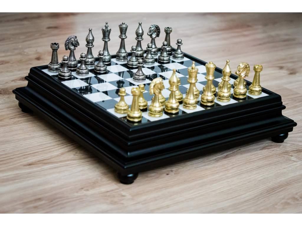 Šachová súprava Monarch Alabaster  + doprava zdarma + darček