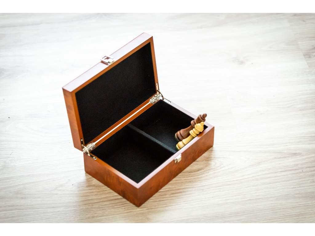 Drevená krabička na šachové figúrky  + doprava zdarma