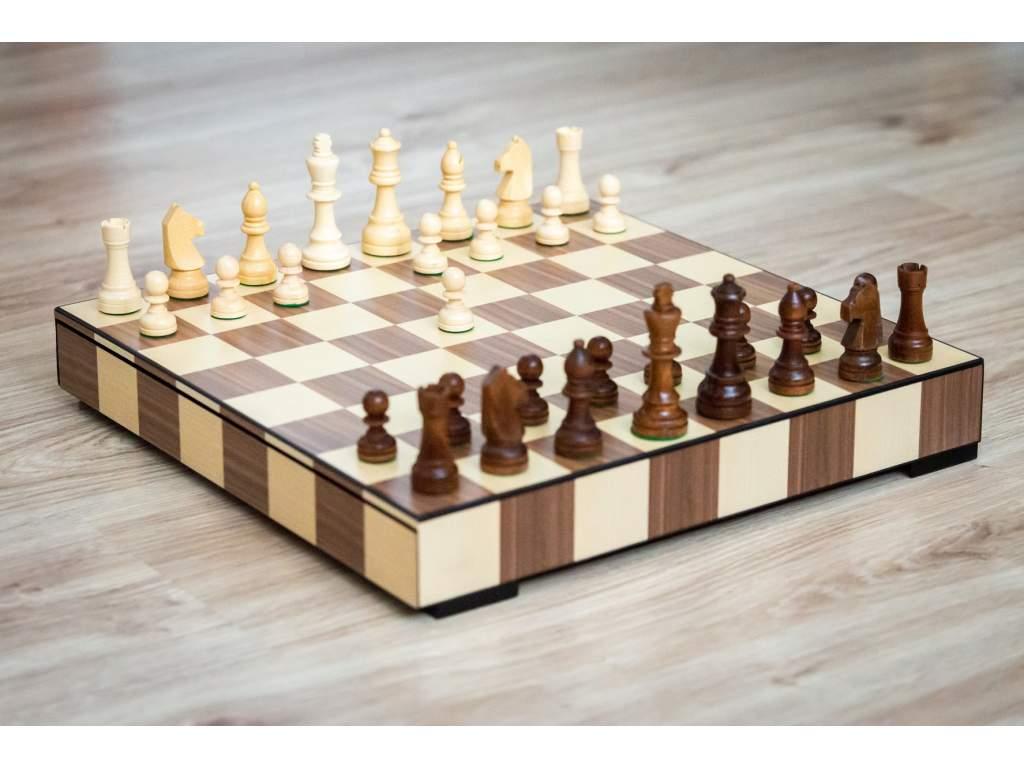 Drevené šachy Exclusive  + doprava zdarma + darček