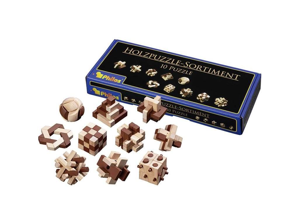 Sada 10 drevených puzzle  + doprava zdarma