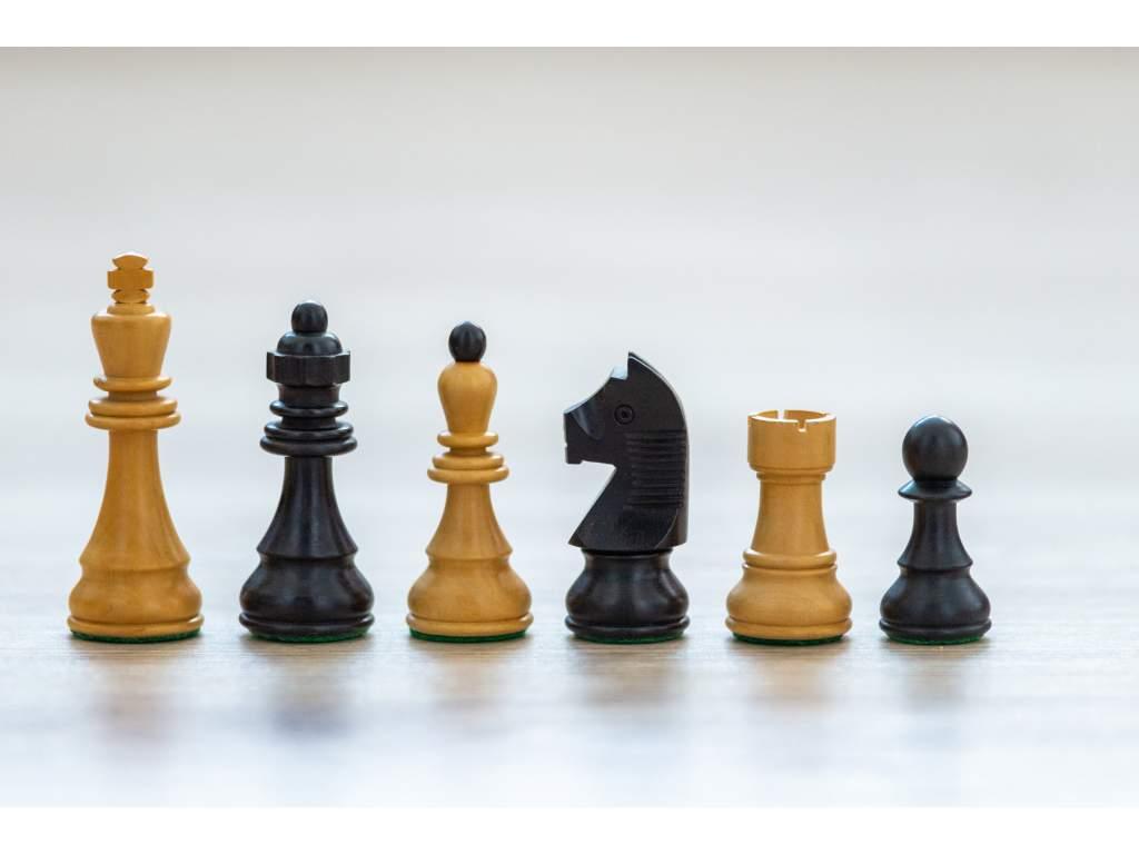 Šachové figúrky Caissa elegant eben  + doprava zdarma