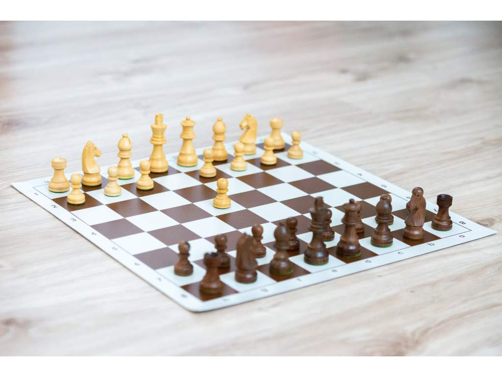 Palisander klasik s hnedou šachovnicou  + doprava zdarma
