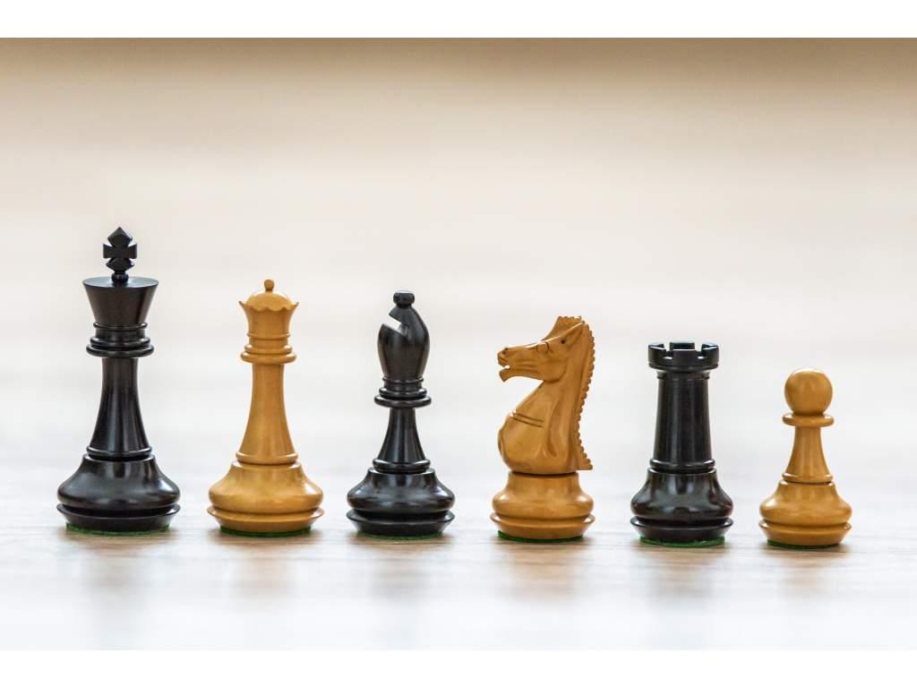 Šachové figúrky Natural Ebony  + doprava zdarma