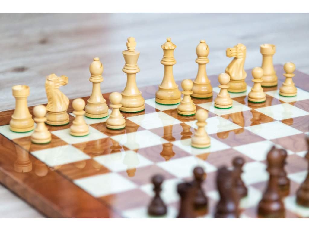Šachová súprava Golden palisander briar  + doprava zdarma
