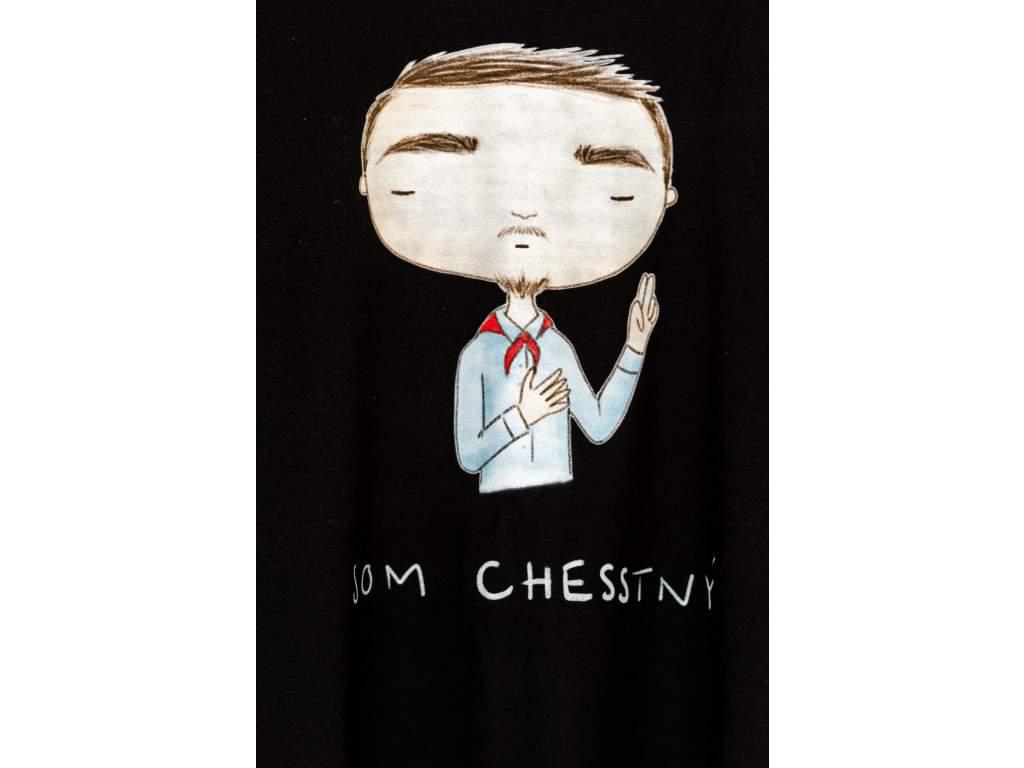 Šachové tričko Som CHESStný  + doprava zdarma