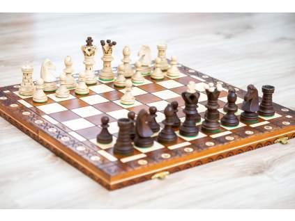 Drevené šachy kráľovské  + doprava zdarma