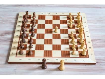 Drevená šachová súprava mahagón PROFESIONÁL 3  + doprava zdarma